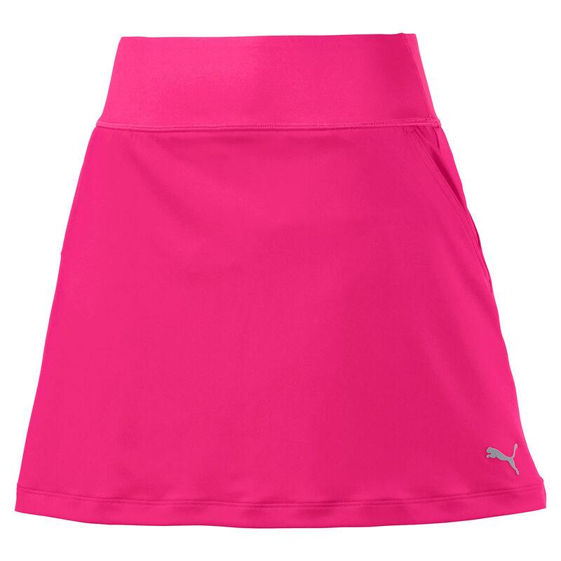 PUMA Golf PWRSHAPE Solid Knit Ladies Skort Female Fuschia PurpleBlack Large