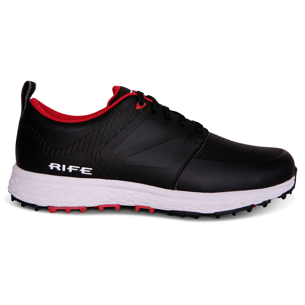 Rife Mens Black and Red RF-10 Edge Spikeless Golf Shoes, Size: 8   American Golf   American Golf