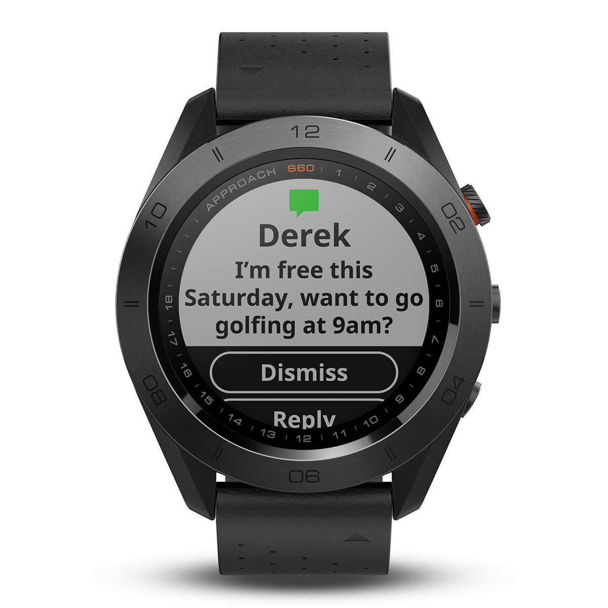 Garmin approach s60 gps premium watch from american golf for Watches garmin
