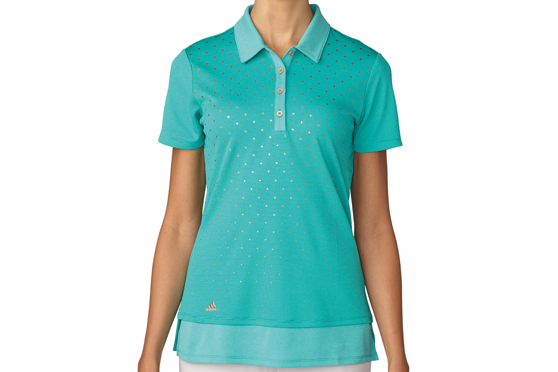 Adidas golf printed ladies polo shirt from american golf for Personalised golf shirts uk