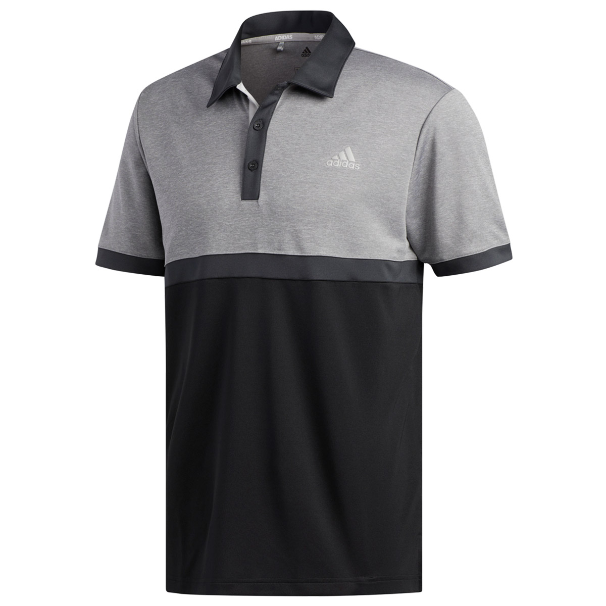 fcc6aebb24333 adidas Golf Advantage Heather Block Polo Shirt from american golf