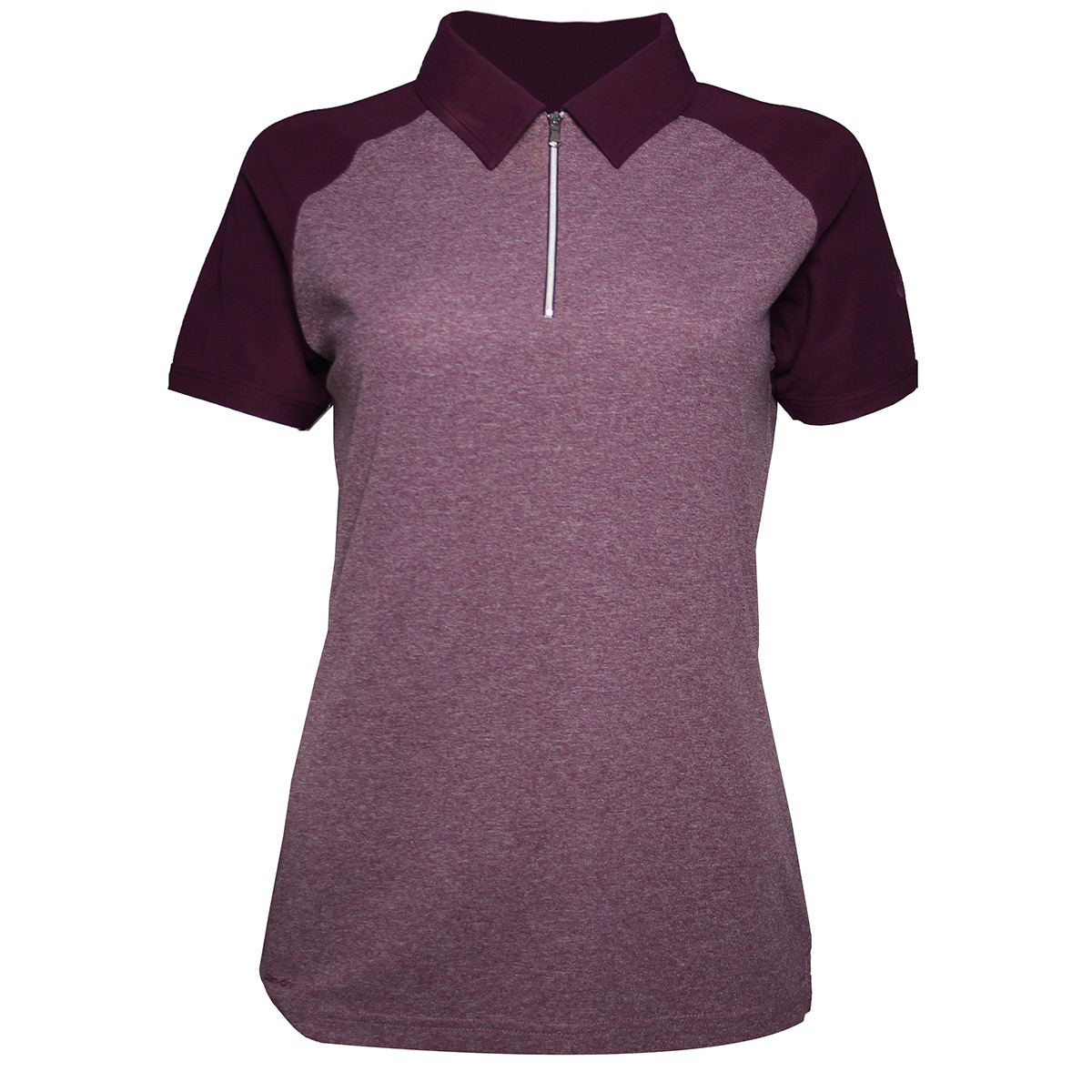 Palm Grove Zip Neck Ladies Polo Shirt