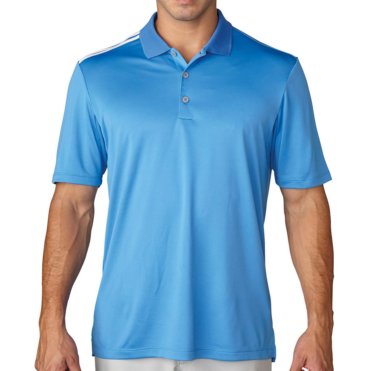 d1d87d33 Adidas Golf Mens Climacool Puremotion 3 Stripe Polo Shirt | Top Mode ...