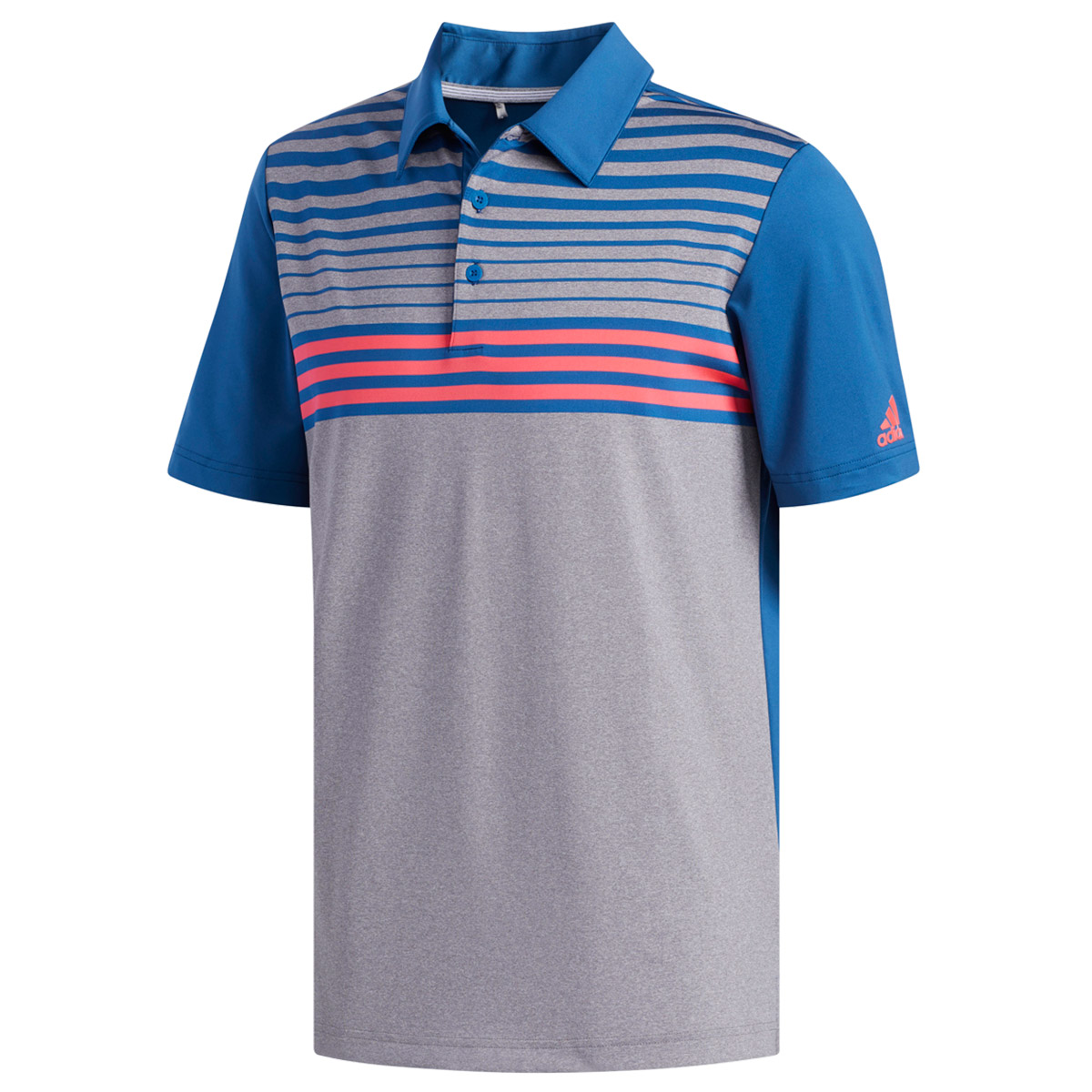 a86d6d3bfb adidas Golf Ultimate 365 3-Stripe Heather Polo Shirt