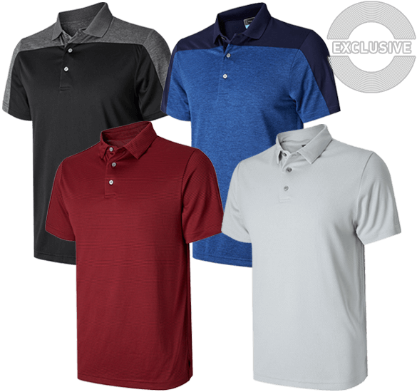 PGA Tour Feeder Stripe Polo Shirt
