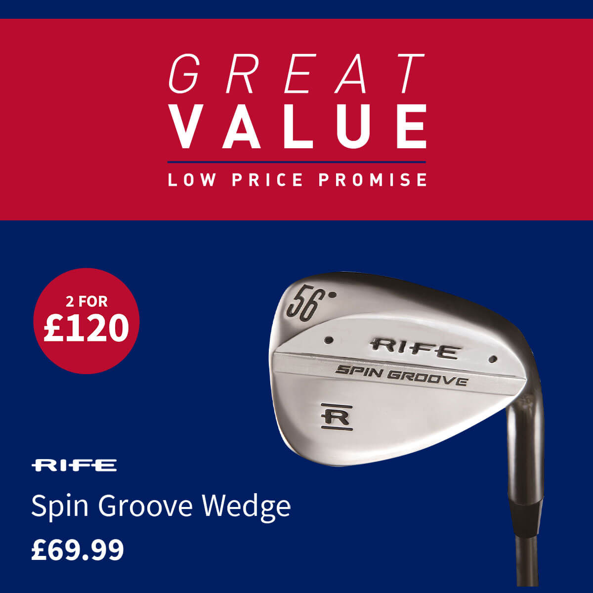 GREAT VALUE - RIFE SPIN GROOVE WEDGE