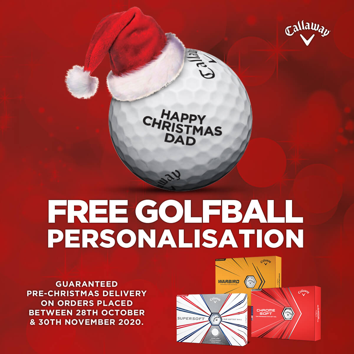 CALLAWAY GOLF FREE BALL PERSONALISATION