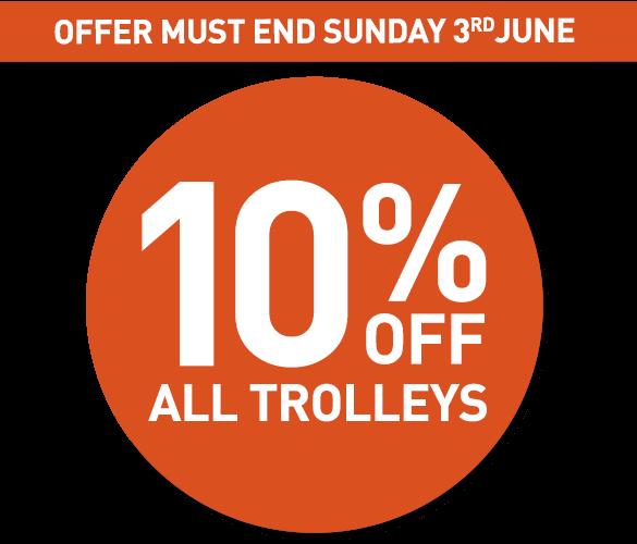 10% Off Trolleys