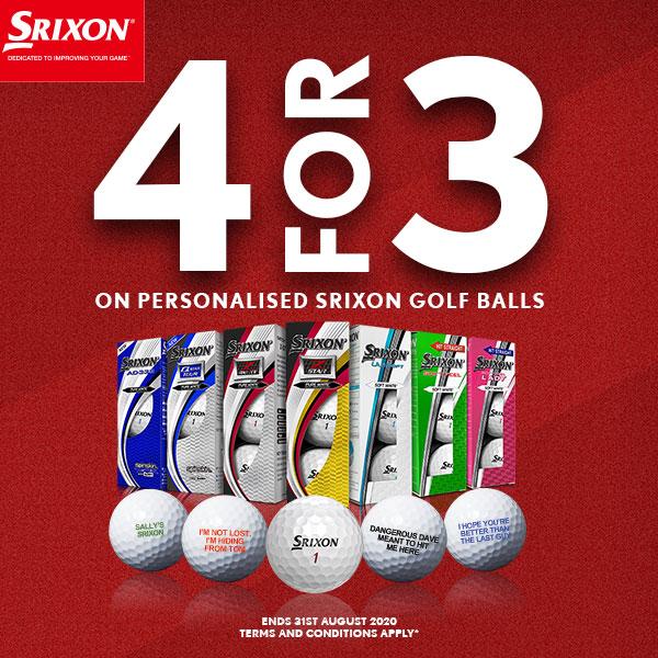 Srixon Free Personalisation