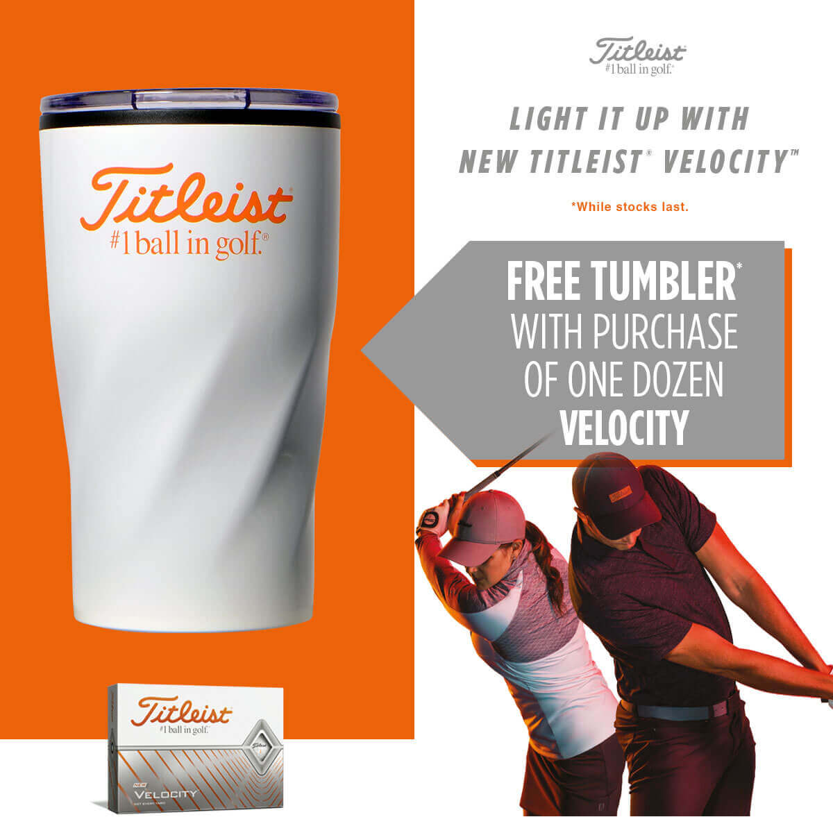 Free Mug With Titleist Velocity Balls