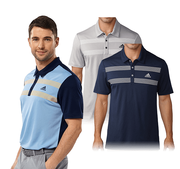 adidas Golf Chest Stripe Polo Shirt