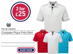 Palm Grove Coolpass Pique Polo Shirt