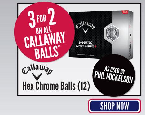 Callaway Hex Chrome Balls (12)