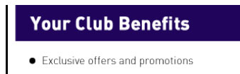 Your Club Benefits