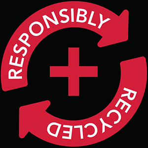Responsibly + Recycled logo