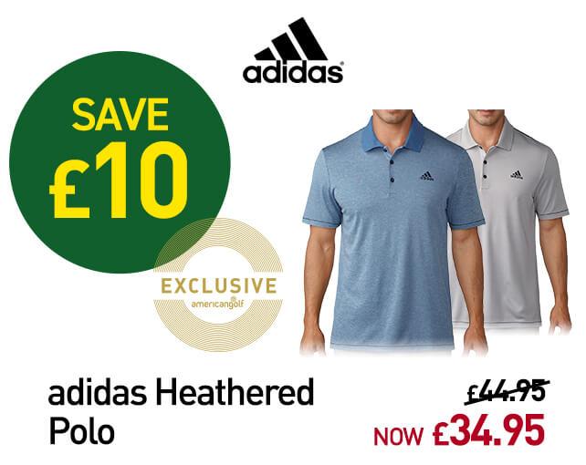 adidas Golf Heathered Polo Shirt