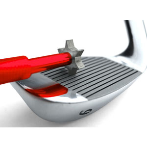 cleaning golf clubs
