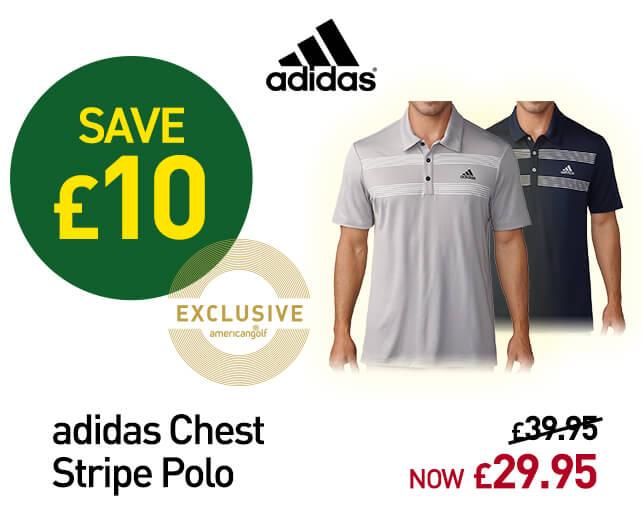 adidas Golf Chest Stripe Polo Shirt