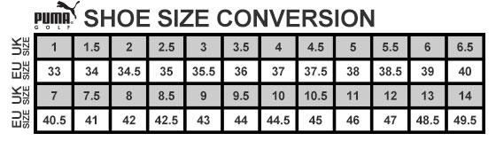 Puma Shoes Size Guide