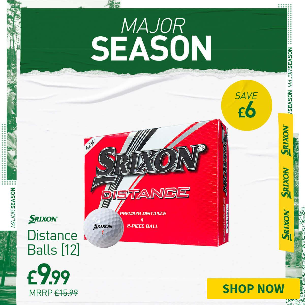 SRIXON DISTANCE BALLS 12 PACK - ONLY £9.99