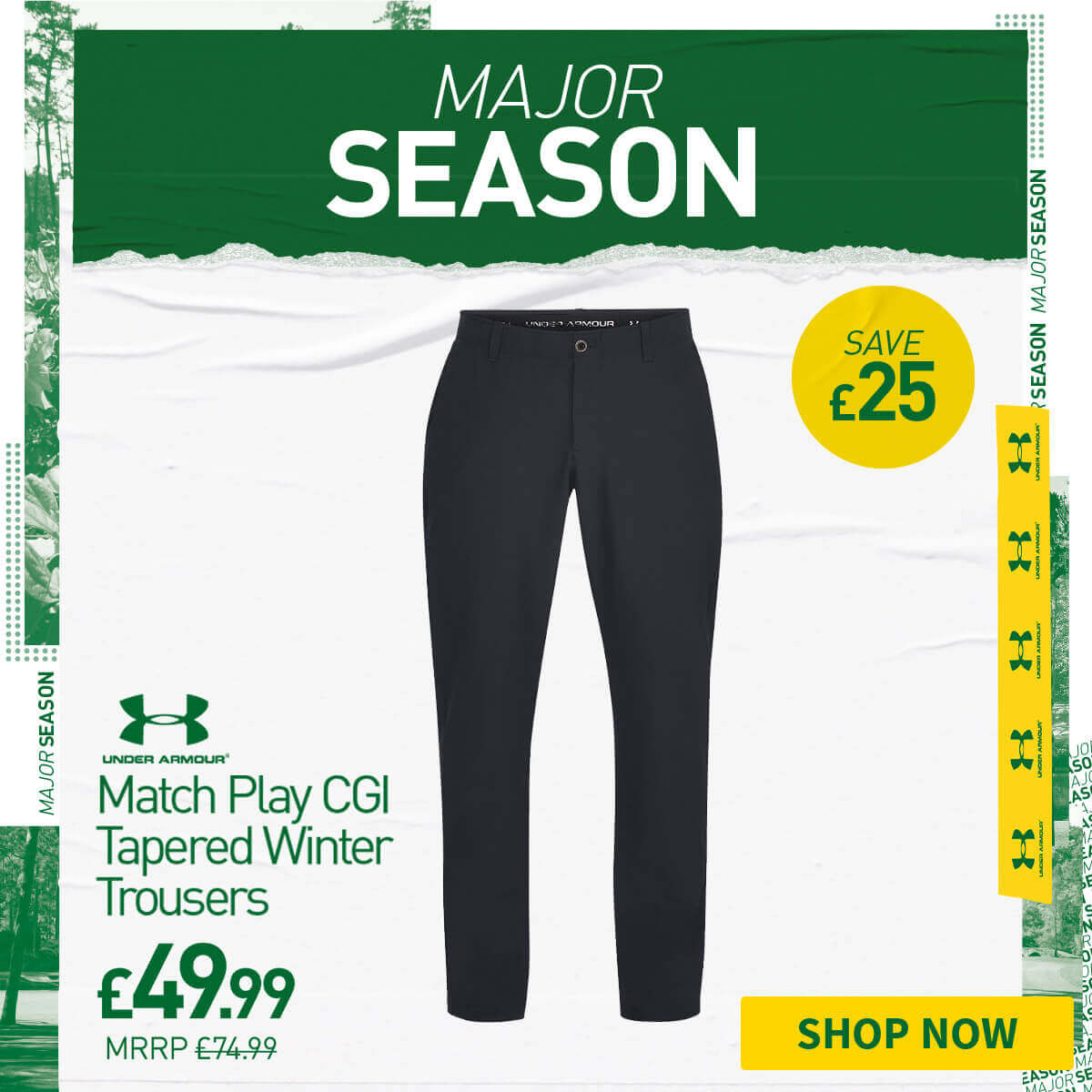UNDER ARMOUR MATCH PLAY TAPERED WINTER TROUSERS - SAVE £25