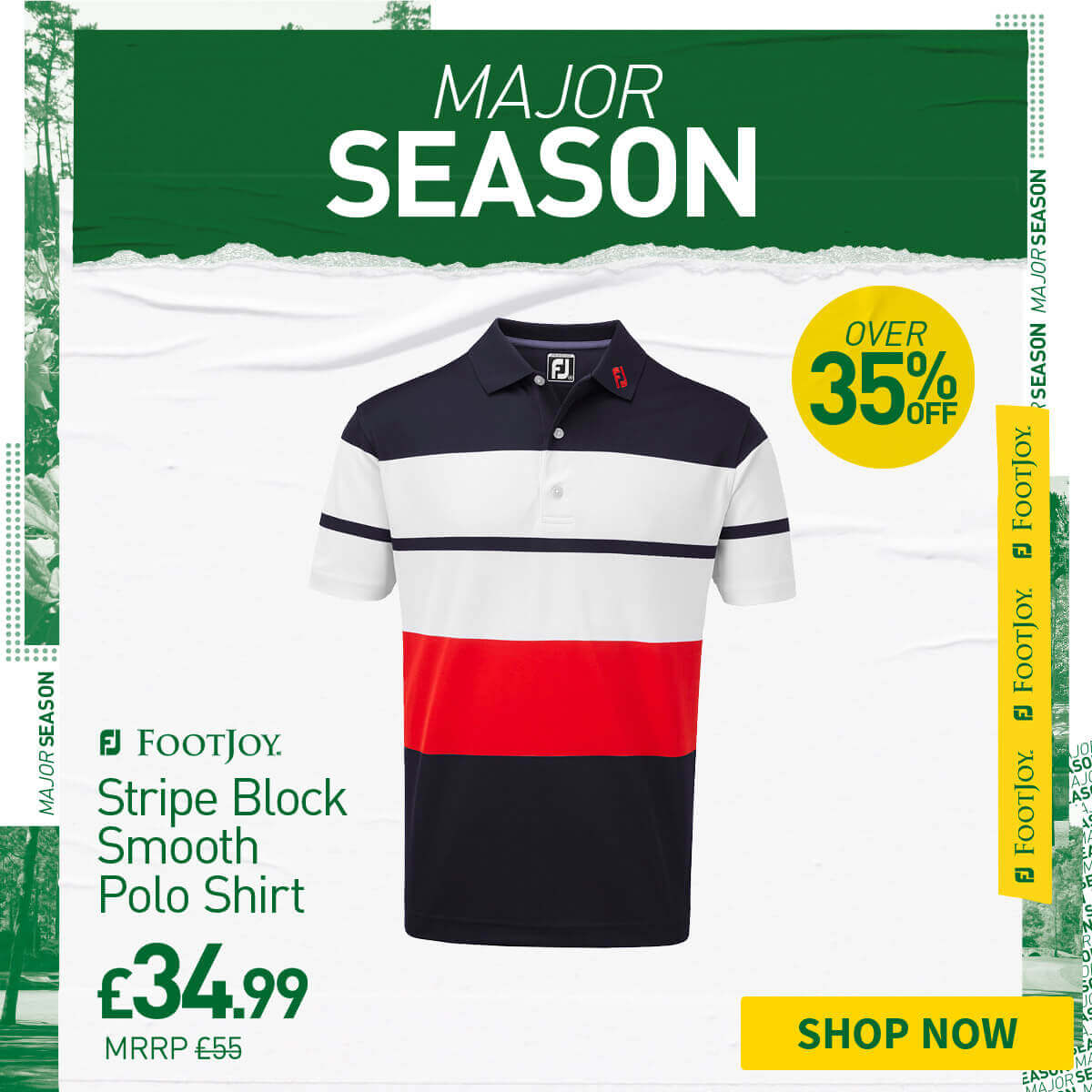 FOOTJOY COLOURBLOCK SMOOTH PIQUE POLO - OVER 35% OFF