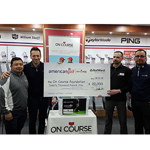 On-Course Foundation cheque