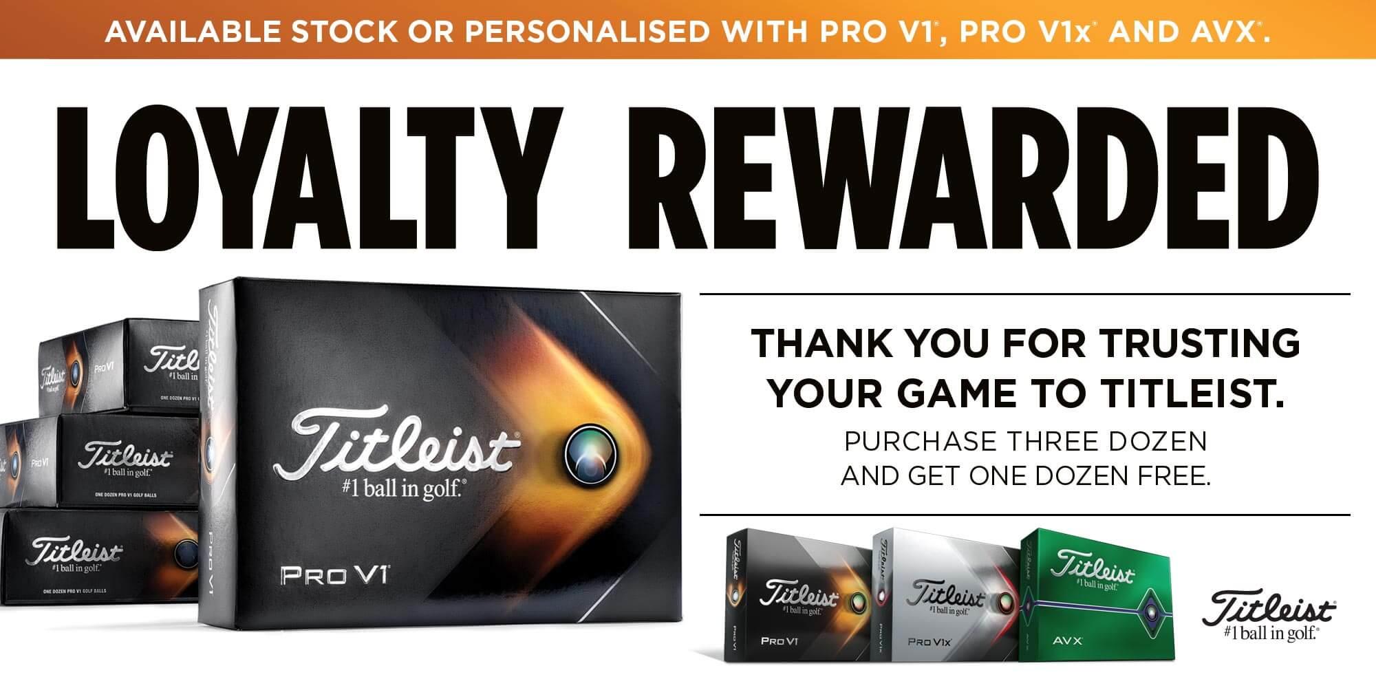 Titleist Loyalty Reward Header