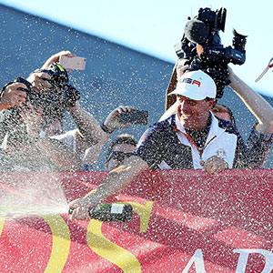 Mickelson celebrates Ryder Cup Victory